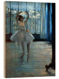 Stampa su legno  Dancer in Front of a Window - Edgar Degas