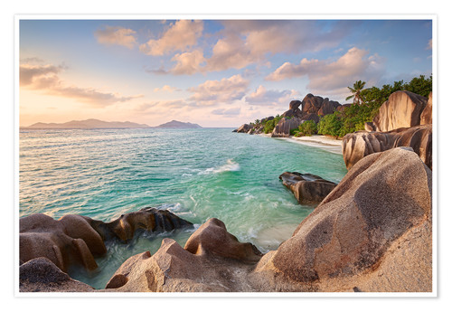 Poster Premium Welcome to La Digue