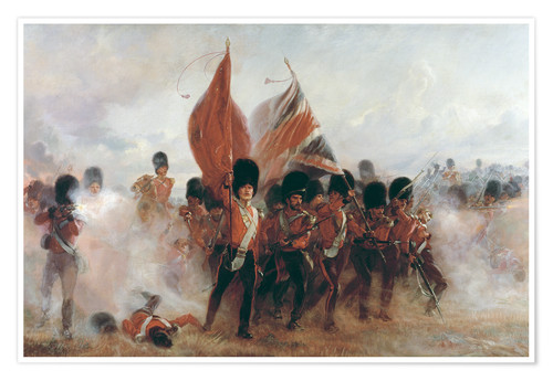 Poster Premium The Colours: advance of the Scots Guards at the Alma