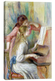 Stampa su tela  Young Girls at the Piano - Pierre-Auguste Renoir