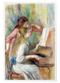 Poster Premium Young Girls at the Piano