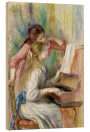 Stampa su legno  Young Girls at the Piano - Pierre-Auguste Renoir