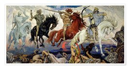 Poster  The Four Horsemen of the Apocalypse - Victor Mikhailovich Vasnetsov
