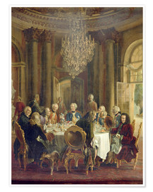 Poster Premium  Dinner Table at Sanssouci - Adolph von Menzel