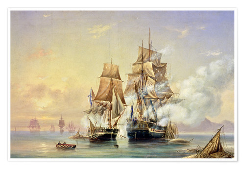 Poster Premium The Russian Cutter Mercury captures the Swedish frigate Venus on 21st May 1789