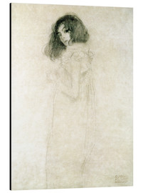 Alluminio Dibond  Portrait of a young woman - Gustav Klimt
