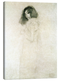 Stampa su tela  Portrait of a young woman - Gustav Klimt