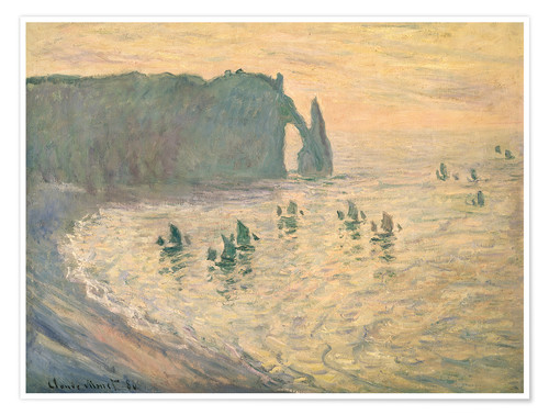 Poster Premium Cliffs at Etretat