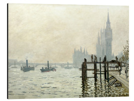 Alluminio Dibond  The Thames below Westminster - Claude Monet