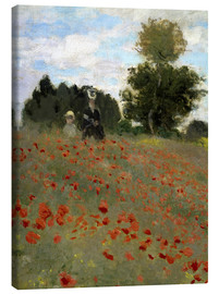 Stampa su tela  Poppy field at Argenteuil - Claude Monet