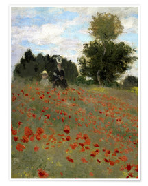 Poster Premium Poppy field at Argenteuil