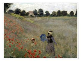 Poster Poppy field at Argenteuil, detail