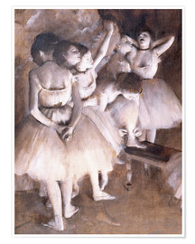 Poster Premium Ballet rehearsal on stage