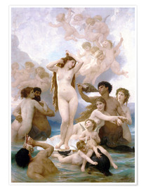 Poster Premium  Nascita di Venere - William Adolphe Bouguereau