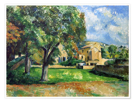 Poster Premium  Chestnut trees an farm - Paul Cézanne