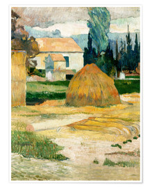 Poster Premium  Farm House in Arles - Paul Gauguin