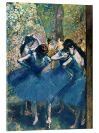 Vetro acrilico  The Blue Dancers - Edgar Degas