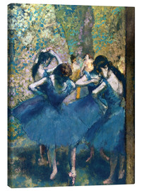 Stampa su tela  The Blue Dancers - Edgar Degas
