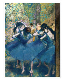 Poster  The Blue Dancers - Edgar Degas