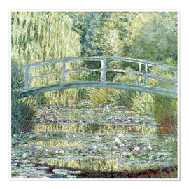 Poster  water lily pond symphony in green - Claude Monet