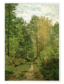 Poster  Forest path - Claude Monet
