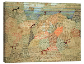 Stampa su tela  Landscape with Donkeys - Paul Klee