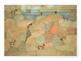 Poster  Landscape with Donkeys - Paul Klee