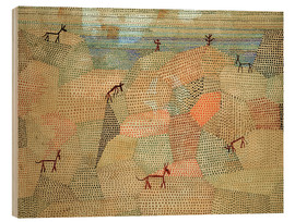 Stampa su legno  Landscape with Donkeys - Paul Klee