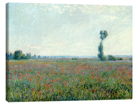 Stampa su tela  Field with poppies - Claude Monet