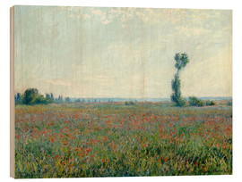 Legno  Field with poppies - Claude Monet