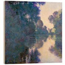 Stampa su legno  Morning on the Seine - Claude Monet
