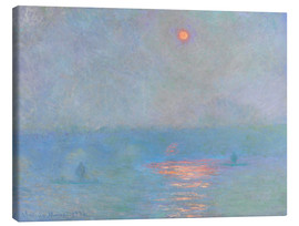 Stampa su tela  Waterloo Bridge - Claude Monet