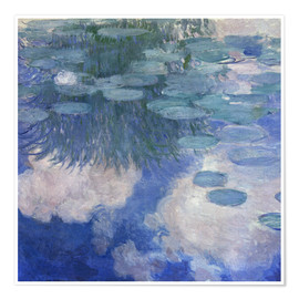 Poster  Waterlilies - Claude Monet