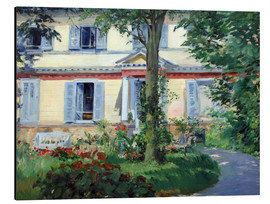 Alluminio Dibond  Country house in Rueil - Edouard Manet
