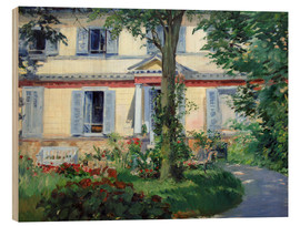 Stampa su legno  Country house in Rueil - Edouard Manet