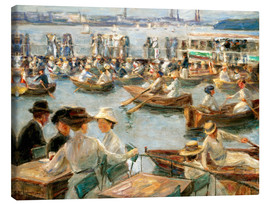 Stampa su tela  By the Alster River - Max Liebermann