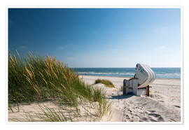 Poster  Beach with dunes and beach grass - Reiner Würz RWFotoArt