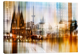 Stampa su tela  Germany Collonge Köln skyline - Städtecollagen