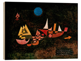 Stampa su legno  Ships setting Sail - Paul Klee
