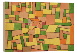 Stampa su legno  Country House of Thomas R. - Paul Klee