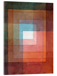 Vetro acrilico  White Framed Polyphonically - Paul Klee