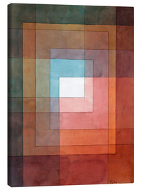 Stampa su tela  White Framed Polyphonically - Paul Klee