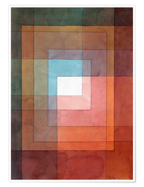Poster Premium  White Framed Polyphonically - Paul Klee