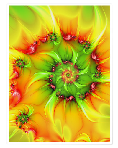 Poster Premium Fractal 'On a hot summer day'