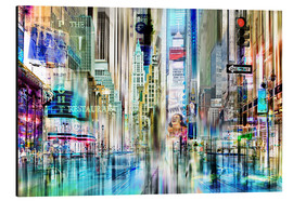 Stampa su alluminio  USA NYC New York Abstrakte Skyline Collage - Städtecollagen