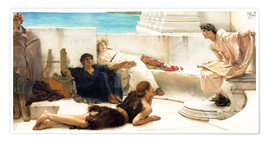 Poster Premium  A reading from Homer - Lawrence Alma-Tadema