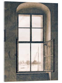 Vetro acrilico  View from the studio - Caspar David Friedrich