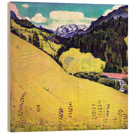 Stampa su legno  View of the Blüemlisalp - Ferdinand Hodler