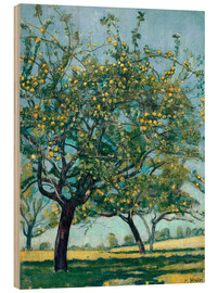 Stampa su legno  Paddock with apple trees - Ferdinand Hodler