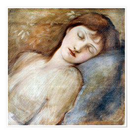 Poster  Sleeping Princess - Edward Burne-Jones